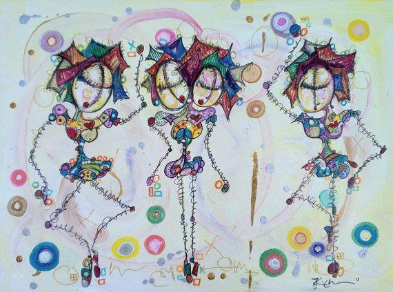 Kim Dean Art Etsy listing at https://www.etsy.com/listing/174058380/some-will-dance-18x24-orignal-canvas