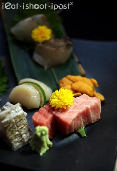 Sashimi Platter as Japanese Kaiseki Cuisine