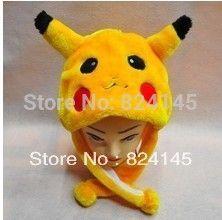 beanie Free Shipping Pikachu Hat Autumn And Winter l Children's Adult Animals Pikachu Hat Pokemon Hat