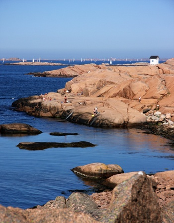 Lysekil, Bohuslän, Sweden. This is where my parents live.