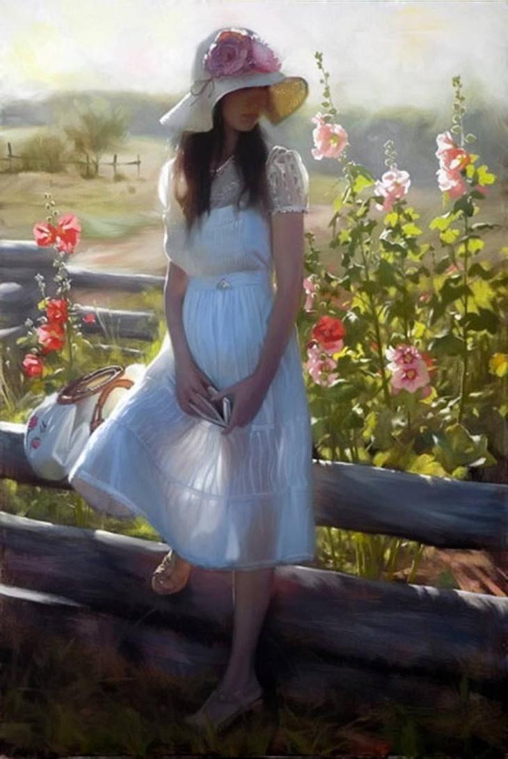 Фото, картинки женские образы красивые романтичные без лица