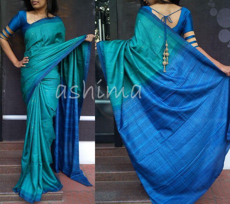 Code-2611152-Printed Soft Tussar- Price INR:6490/-
