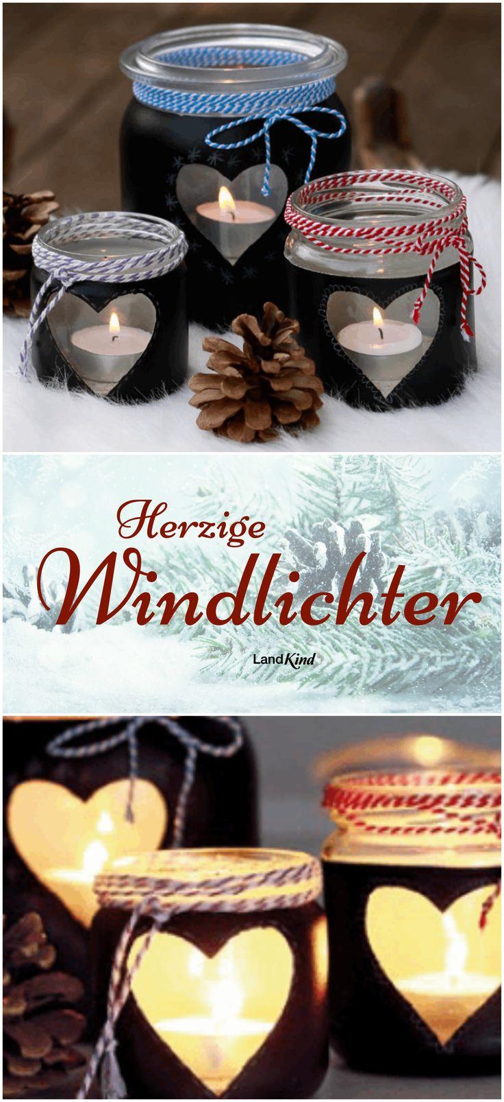 Mit Tafellack werden aus alten Marmeladengläsern liebliche Windlichter, die man sogar bemalen kann. Genau das Richtige für trübe Wintertage.