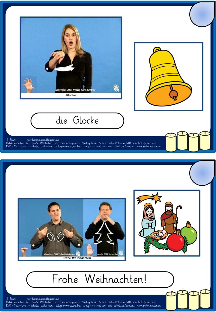 Hasenklasse: Adventskalender in Gebärdensprache
