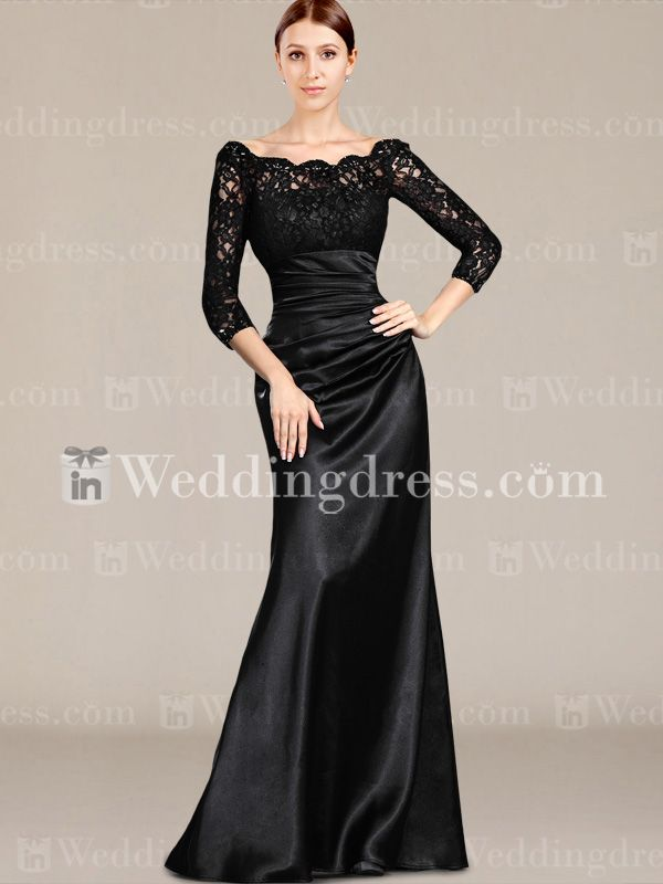 MOTHER OF THE BRIDE | Home / Elegant Mother of the Bride Dress with Sleeves MO031N