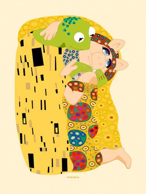El beso de Klimt versión Muppets...love this