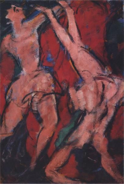 Christian Rohlfs, Akrobaten. 1916, Essen Folkwang. This painting was banned by the Nazi regime and exhibited at the Degenerate art exhibition in Munich in 1937.
