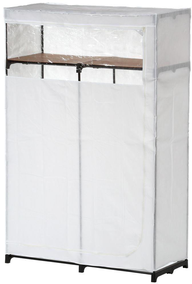 Portable Wardrobe Hanging Clothes Garmet Space Storage Closet With Top Shelf #HoneyCanDo