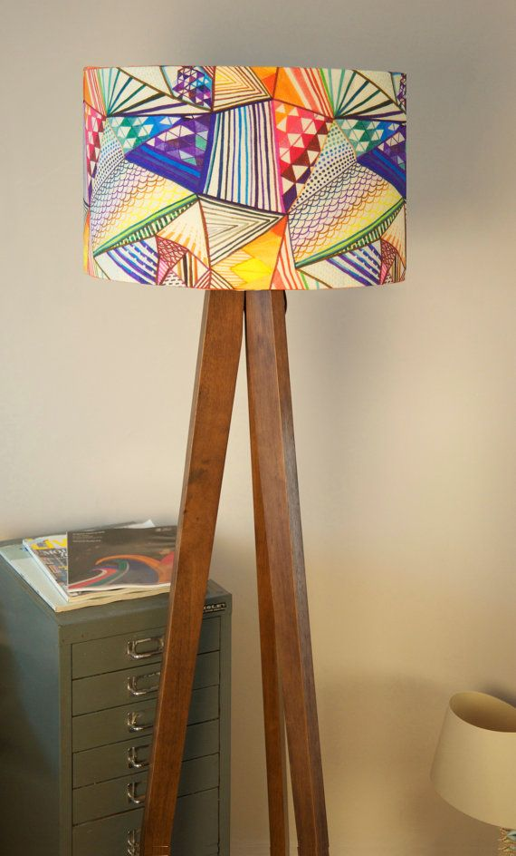 90 best lampshades inspiration images on pinterest lampshades transform any room with this modern statement piece of lighting a colourful geometric handmade drum lampshade designed by ana montiel with aloadofball Choice Image