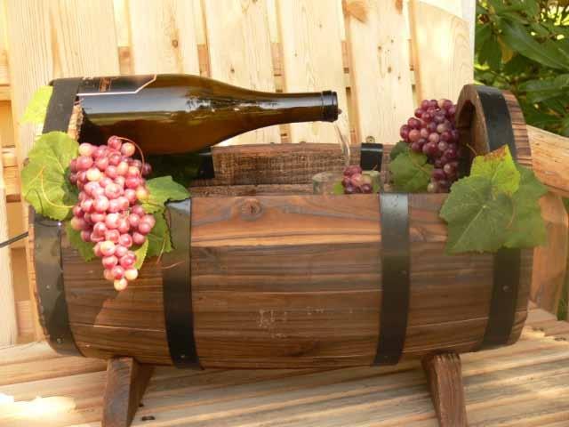 Wine Barrel Fountain