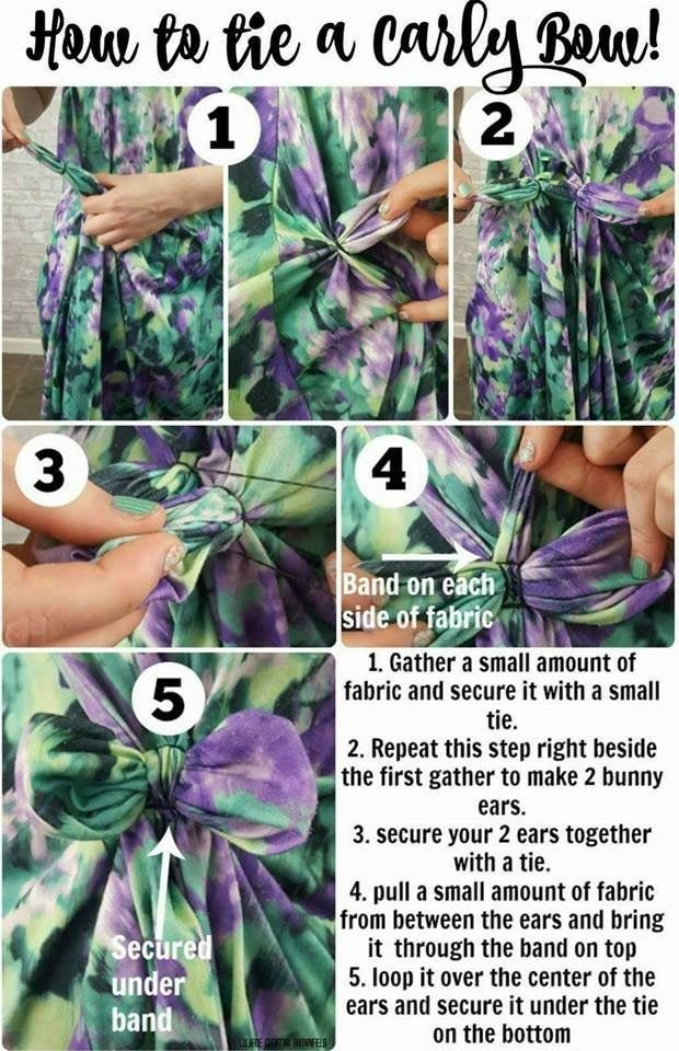 How to tie a Carly bow