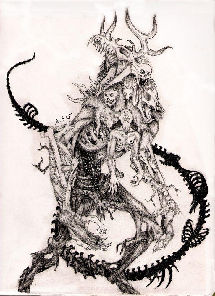 Howl of the Wendigo by Moonshadow01.deviantart.com on @deviantART