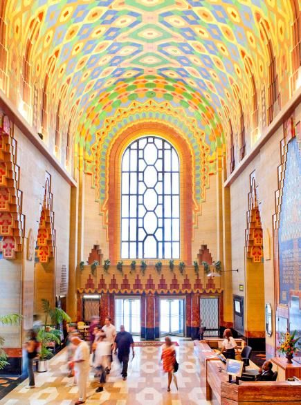 Things to do in Detroit include The Henry Ford, Comerica Park, Eastern Market, and Detroit Institute of Arts and Guardian Building shown here. #Detroit