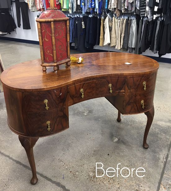 $30 Thrift Store Dressing Table Makeover