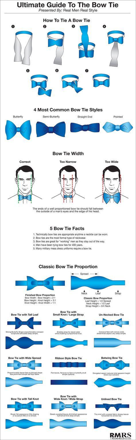 Ultimate Guide To The Bow-Tie | Bow Tie Infographic (via @Antonio Centeno)