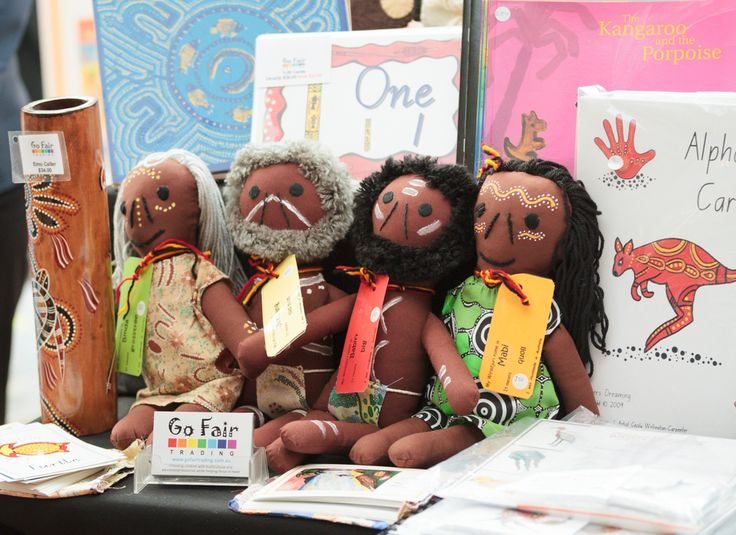The Beyond Tomorrow trade fair featured a diverse range of resources, including these multicultural dolls.