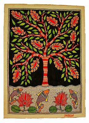 Left Bank Art Blog: Mithila Painting