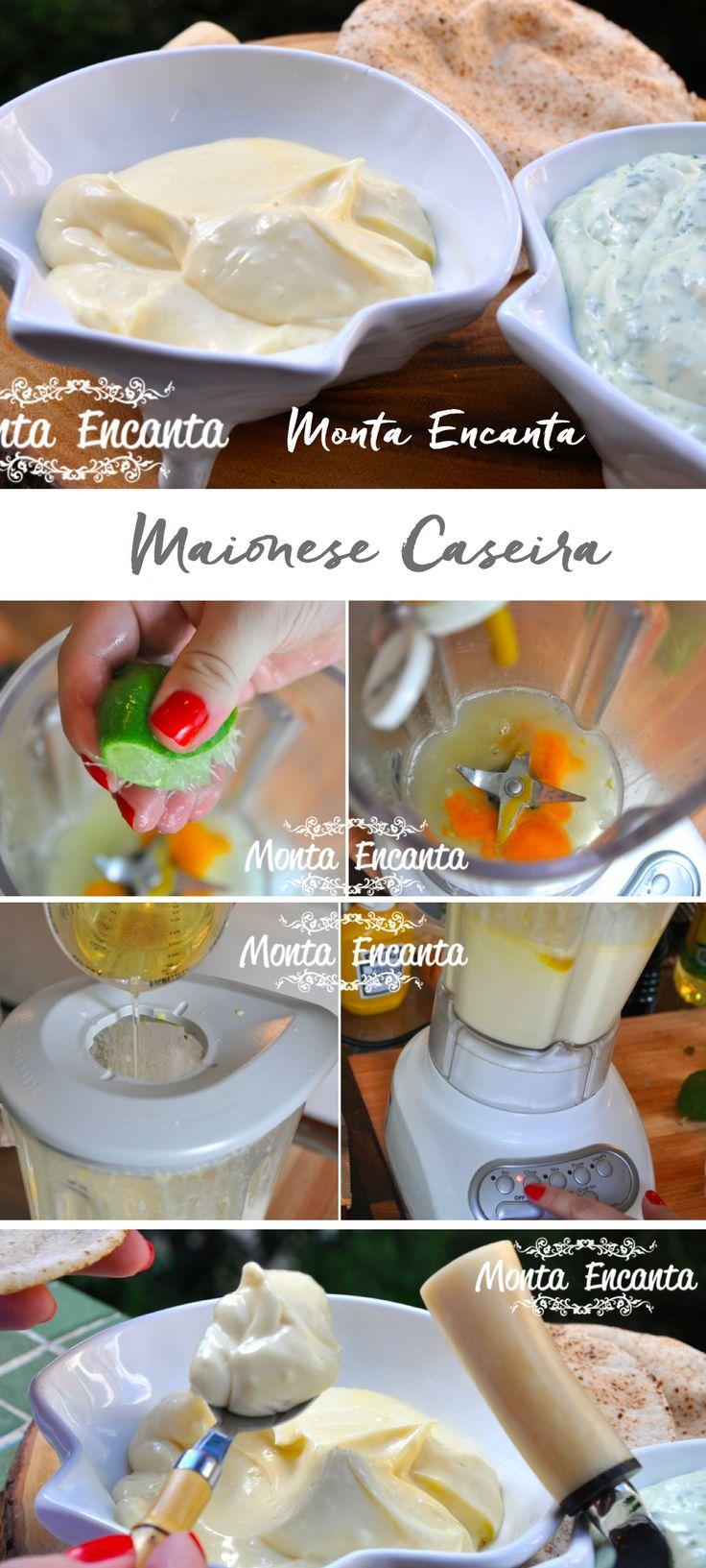Maionese Caseira, branca e verde, igualzinha a das lanchonetes  famosas e pronta em 5 minutinhos. Deliciosa e muito simples de fazer