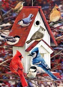 1000pc Winter Birdhouse jigsaw puzzle | 51827 | Cobble Hill Puzzle Co