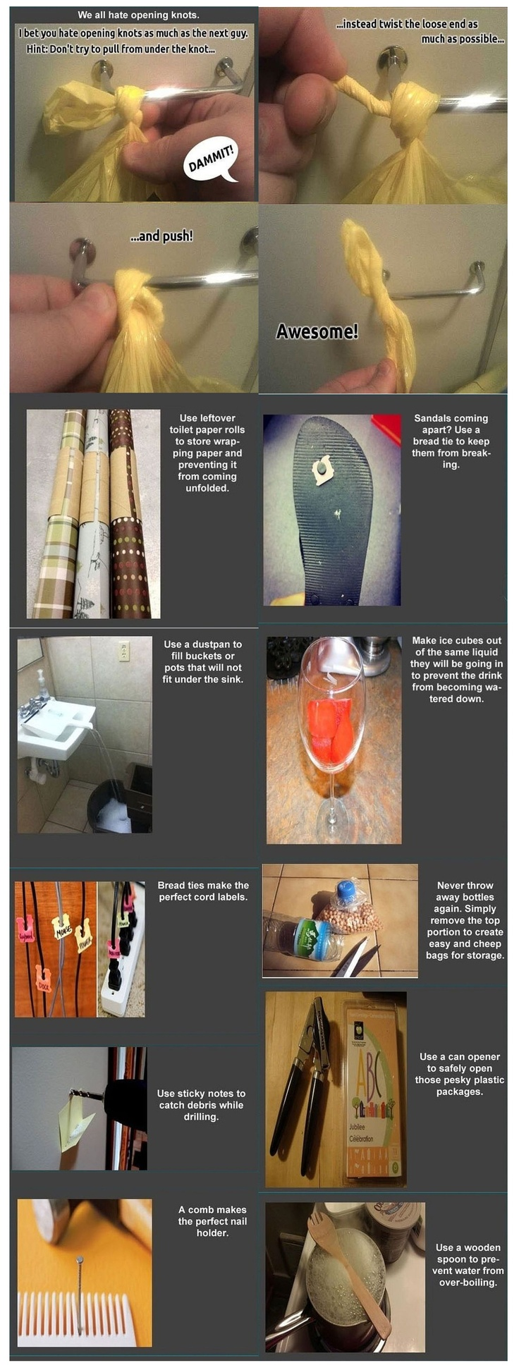 Most of these are new to me! Excellent life hacks (via Tumblr: http://thebogonoslo.tumblr.com/post/20473311074/life-hacks)
