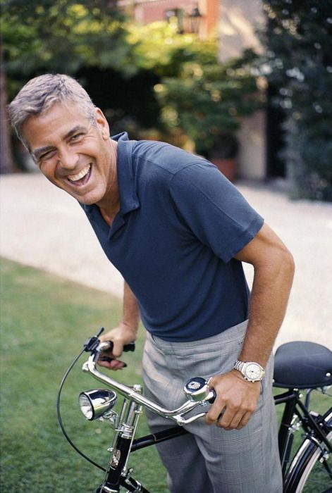There's something about George Clooney's hair...  I *love* that silver color!  So distinguished!