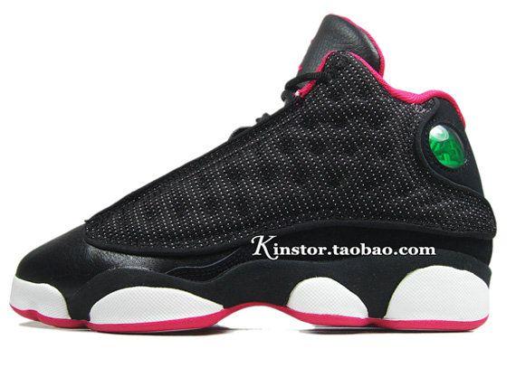 big boys shoe air jordan xiii black voltage cherry 439358 001