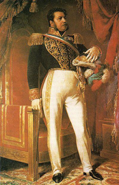 Manuel Bulnes retratado por Raimundo Monvoisin.