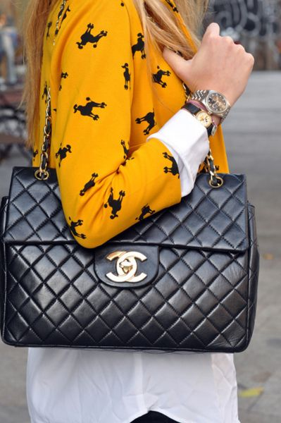 The Chic Department...love the bag love the sweater