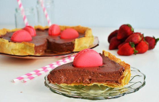 Τάρτα σοκολάτας με φράουλα – Chocolate Strawberry Jam Tart Recipe , by Gabriel Nikolaidis and the Cool Artisan!