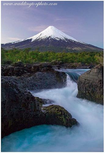 Petrohue Falls and Volcano Osorno Puerto Varas