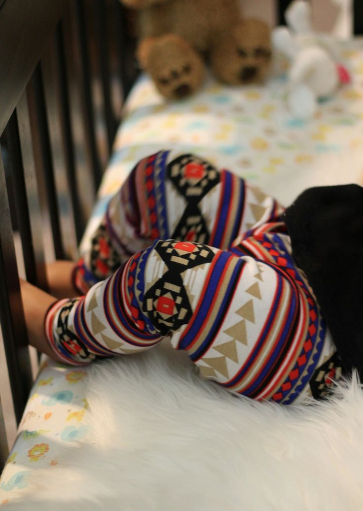 Colorful Aztec Print Leggings for Toddlers