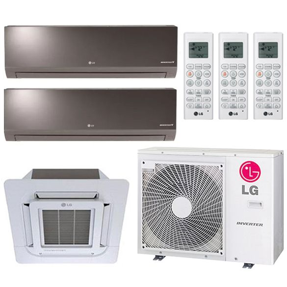 3 Zone Lg 19 2 Seer Ductless Multi Zone Mini Split Inverter 3 Room Air Conditioner Heat Pump 12k 12k In 2020 Heat Pump System Room Air Conditioner Heating And Cooling