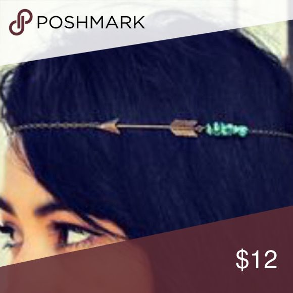 Boho Turquoise Arrow Headband BRAND NEW!! Antiques Bronze and Turquoise Arrow Headband -- super cute & compliments all hair colors!! Perfect for festival season!!  🌟🌟Item is Brand New, direct from the Manufacturer, & Sealed in Pkg. 🌟🌟 austin gal Accessories Hair Accessories