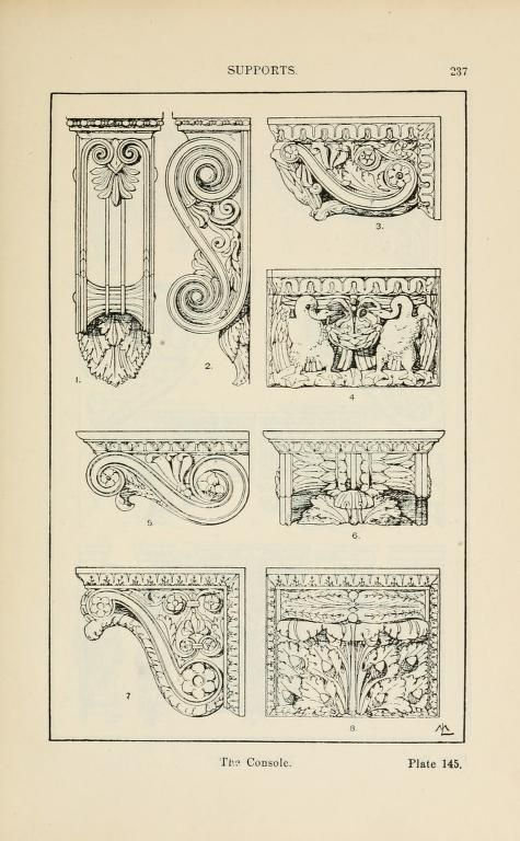 A handbook of ornament Supports the console  page 237