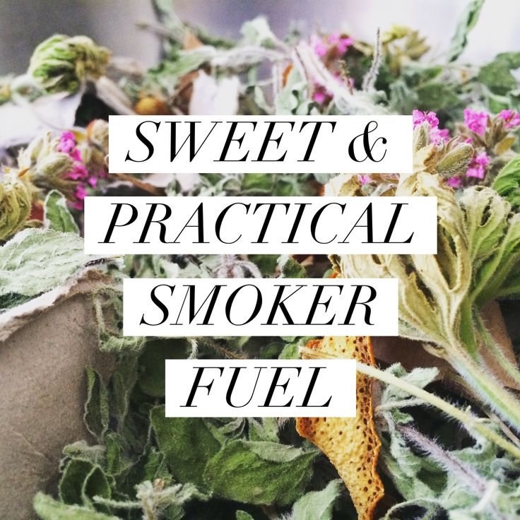 SWEET & PRACTICAL SMOKER FUEL: Learn how to make herbal gift packets for burning in your smoker!