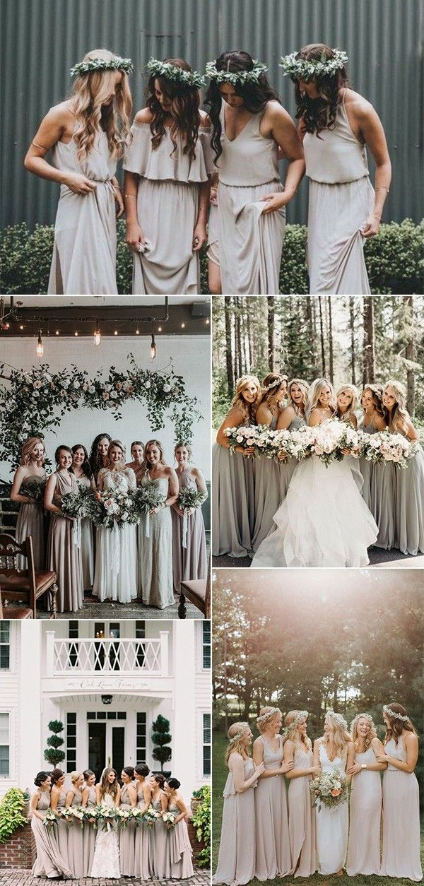 05b65f65c2 trending neutral bridesmaid dresses. Find this Pin and more on Wedding  Inspiration by Oh Best Day Ever.