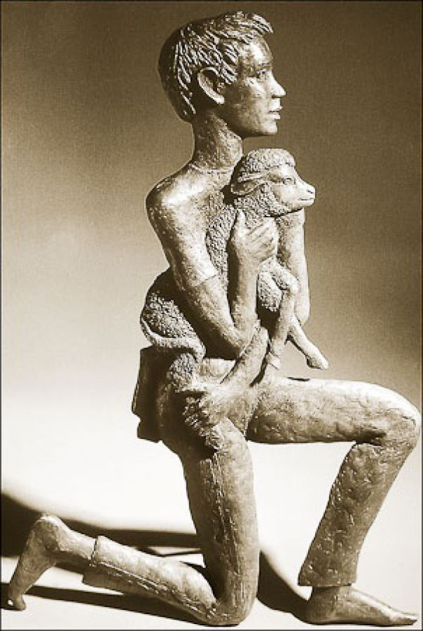 #Bronze #sculpture by #sculptor Lyn Constable Maxwell titled: 'Young Shepherd…