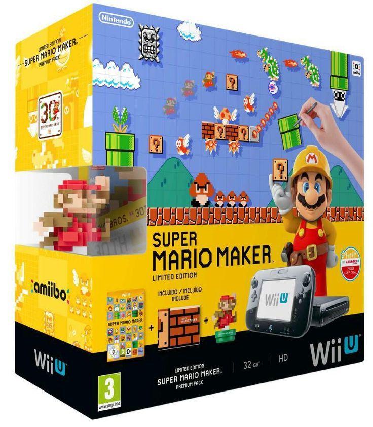 Console Wii U édition limitée Super Mario maker - 32 Go en précommande sur Référence Gaming