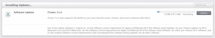 Apple releases iTunes 11.4 update for OS X Mavericks, adds support for iOS 8