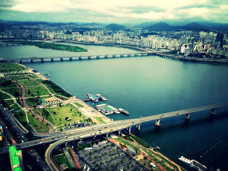 Take in the view of The Han River from 63 Building in Seoul