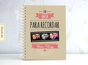 PhotoBook dia dos namorados, scrapbook, casal, presente, namorada criativa, álbum de fotos, personalizado, Estúdio Bix