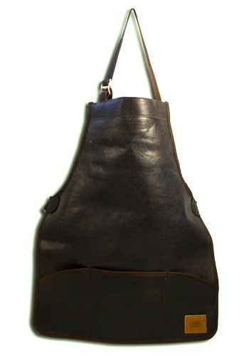 Above: Handmade by local craftsmen in Shropshire, England, the Full Leather Apron from Hibbitt is £60.