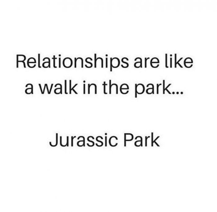Relationships are like a walk in the park - quotes - http://jokideo.com/relationships-are-like-a-walk-in-the-park-quotes/