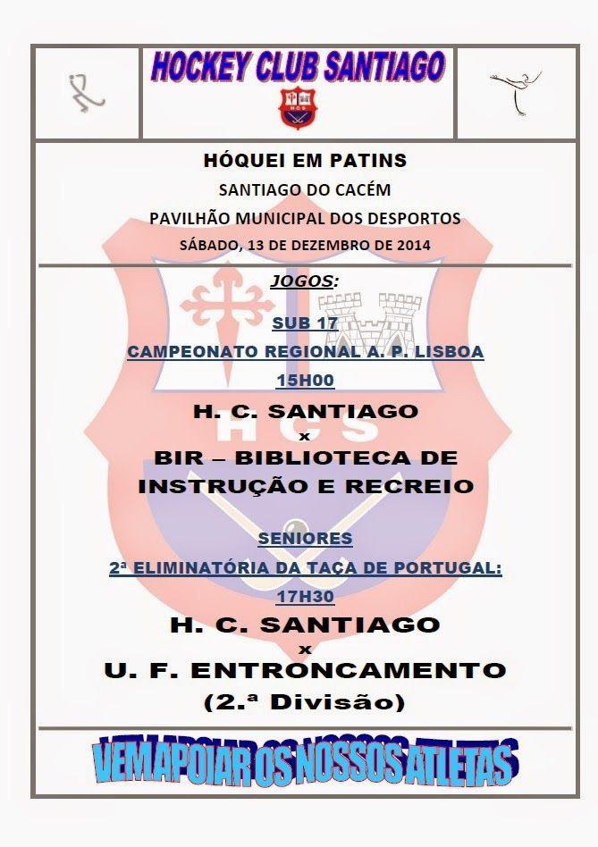 HOCKEY CLUB SANTIAGO: HÓQUEI EM PATINS - AGENDA DA SEMANA