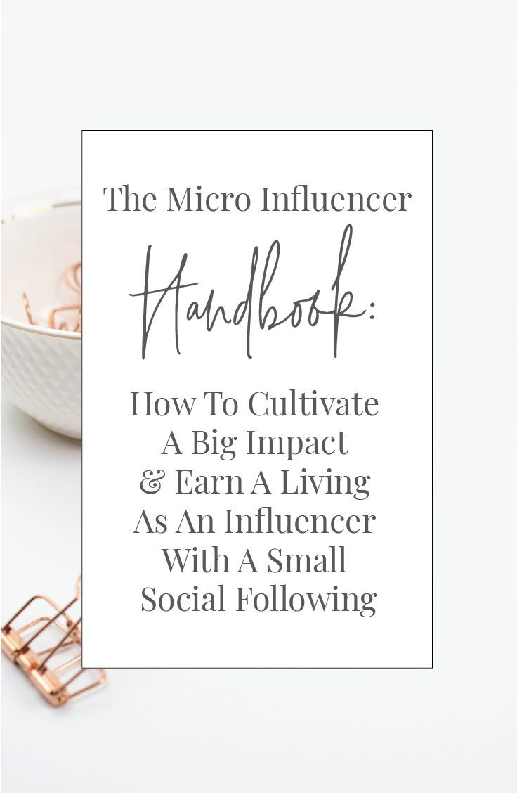 Micro-Influencers earn a living from their online following