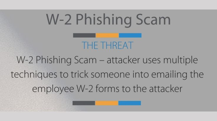 W-2 Phishing Scam Threatening Small Business After Tax Day - http://ityy.org/2017/05/07/w-2-phishing-scam-threatening-small-business-after-tax-day/