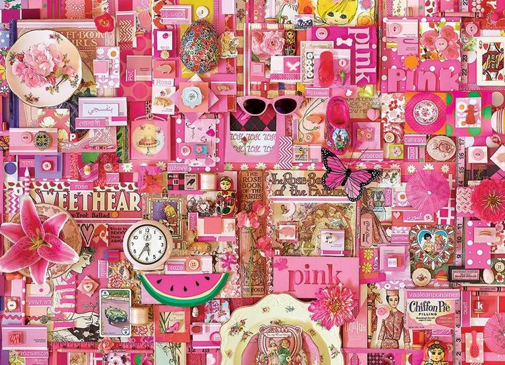 Puzzle COBBLE HILL 51860 Barvy duhy: Růžová 1000 dílků