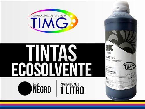 ¡Cuida tus maquinas y cuida el medio ambiente! Tinta Eco solventada 512 - color NEGRO - MIMAKI MUTHO HP SEIKO DGI OCE - cabezal Dx4 - Dx5 - Dx7 - 1 litro Adquiere la tuya, preguntanos como;) #TIMG #chile #tinta # Impresión
