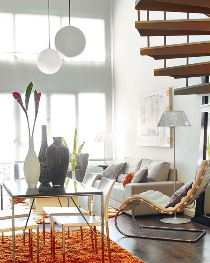 Decoration:Creative Small Loft Design Featuring Bright Vividly Colored Spaces By Professional Designer Maddyruns Furniture Plans Decor Decor...