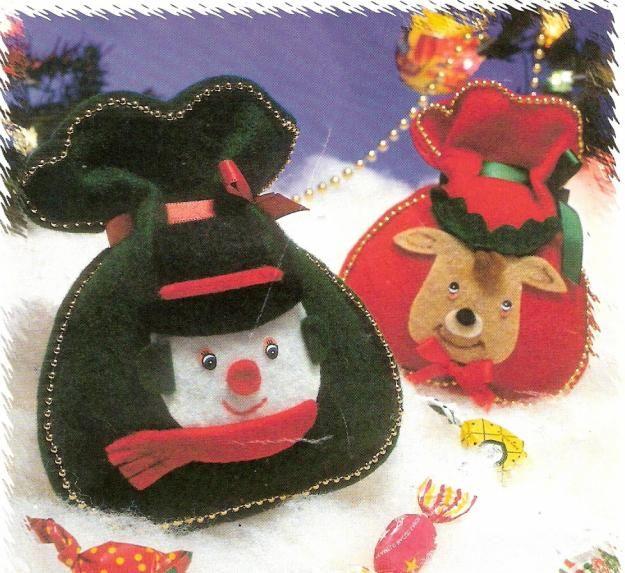 Dulceros navideños de fieltro - Imagui